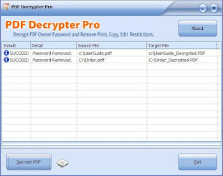 Portable PDF Decrypter Pro 3.30 - Free Download Portable Software - Hotfile Mediafire Links