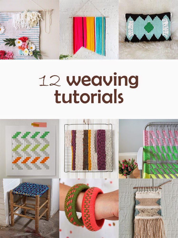DIY Monday # Weaving tutorials