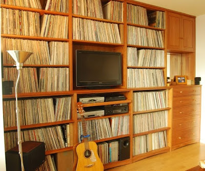 shelving for storing vinyl LP records