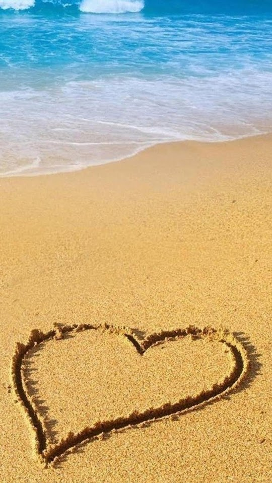Love Heart On The Sand Valentines Surprise  Galaxy Note HD Wallpaper