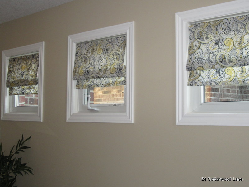 Super easy diy faux roman shades 24 cottonwood lane24 for Simple window treatments for large windows