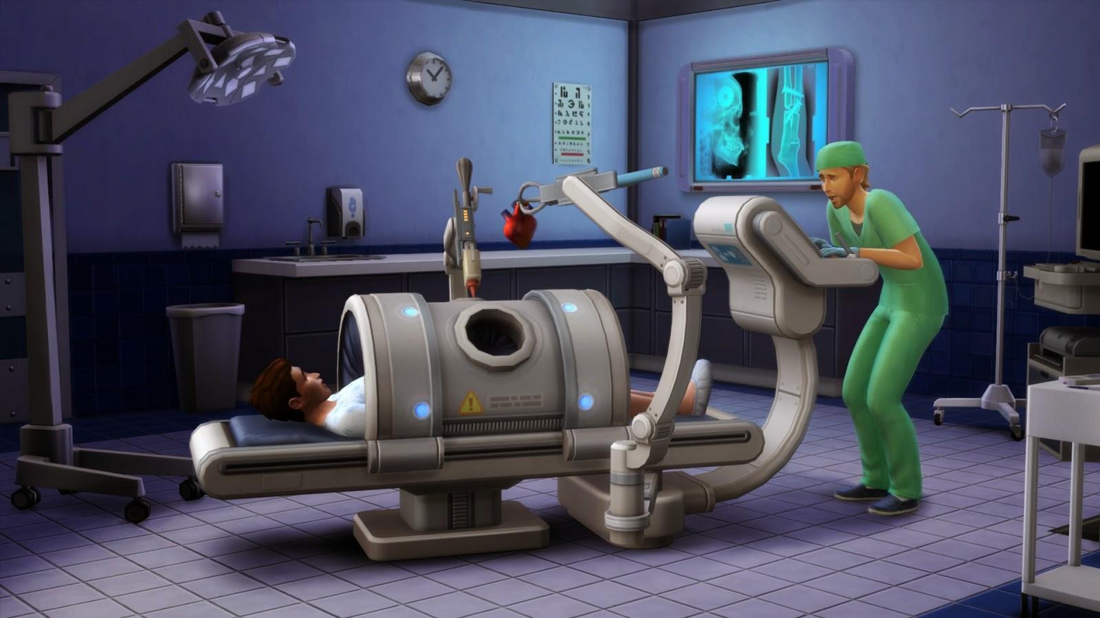 Imagen de la profesión médico del juego Los Sims 4 ¡A trabajar!