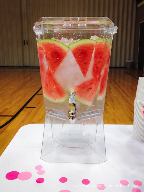 A super fun theme for a LDS Relief Society dinner or enrichment night!  You're One In A Melon watermelon theme is perfect for summer.     mynameissnickerdoodle.com