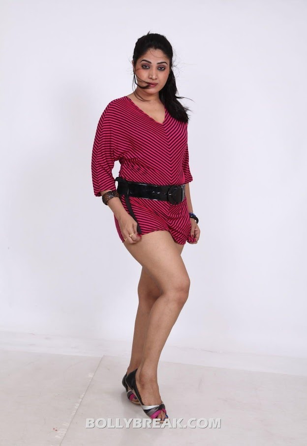 Avanika in red outfit with black belt  - Avanika hot pics