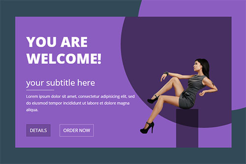 Responsive Welcome Block for Bootstrap