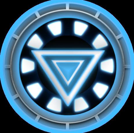 iron man chest symbol