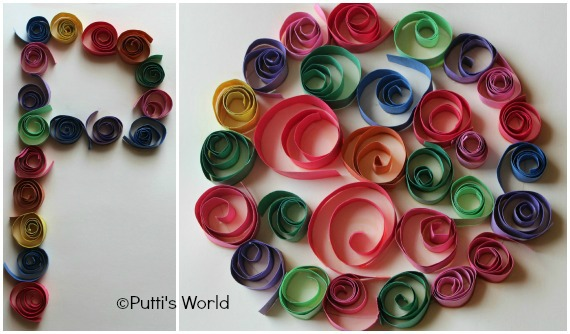 Rolled Paper Strips Kids Quilling Crafts