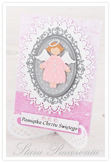 kartki ręcznie robione, kartka ręcznie robiona, cardmaking, kartki na chrzest, kartki z aniołkiem