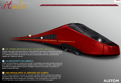 il nuovo treno italo della NTV. Il primo operatore privato dell'alta velocità