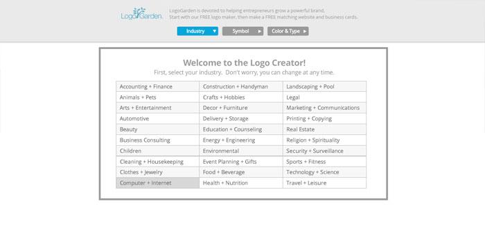 Cara Membuat Logo Online di Situs LogoGarden 2