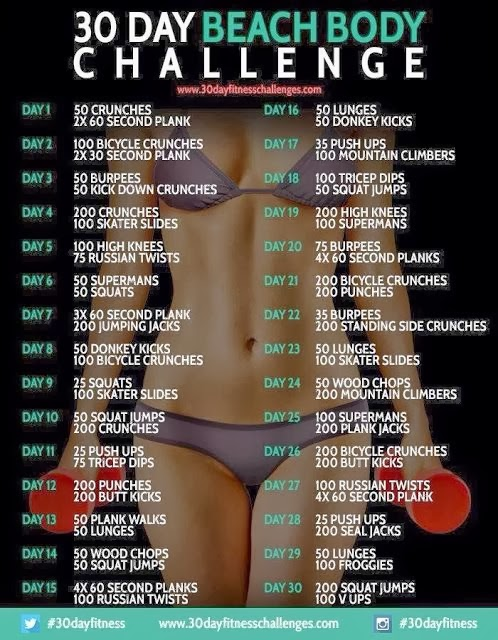 30 day beach body challenge #30dayfitness