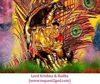 Image of Lord Krishna and Radha- The Radha-krishna love