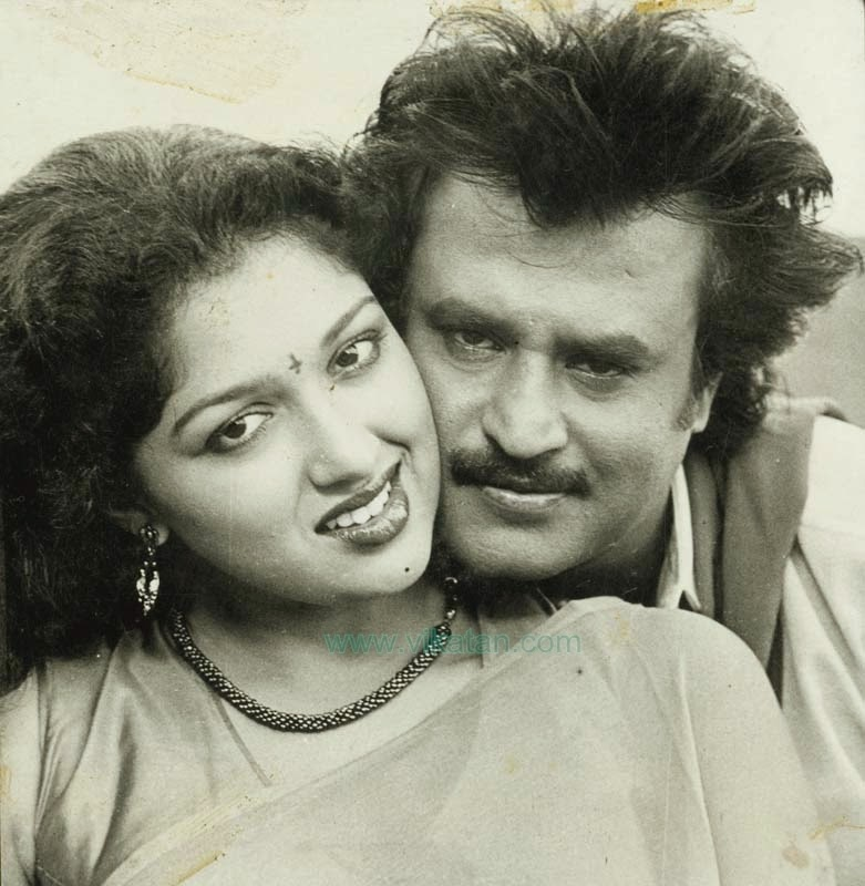 RAJINIKANTH & GOUTHAMI IN 'PANAKARAN' MOVIE