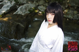 Miyuko Cosplay as Enma Ai from Jigoku Shoujo