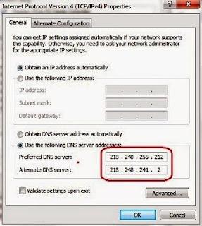 BSNL DNS Server Address for High Speed Internet