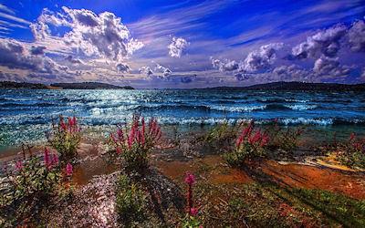 Un paisaje inolvidable - Unforgettable blue landscape
