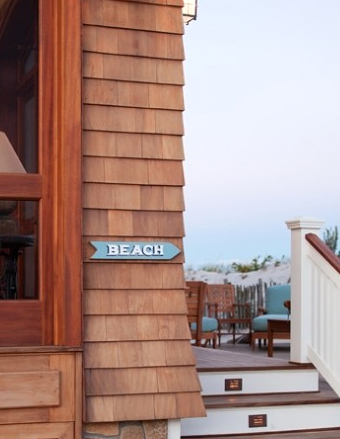 beach sign outside