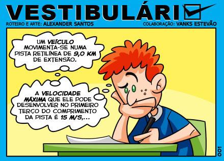 Tirinha Vestibulário - por Alexander Santos