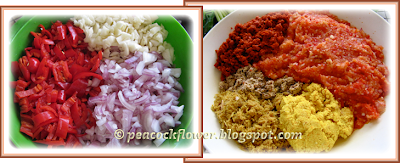 Blended ingredients for Malacca Portuguese Debel (Devil) Curry dish
