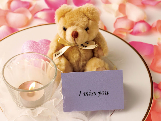 I Miss You Teddy Bear Wallpapers