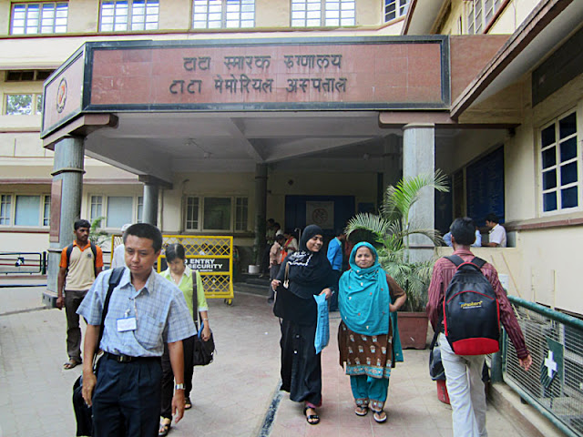 Tata Memorial Cancer Hospital with patients and people