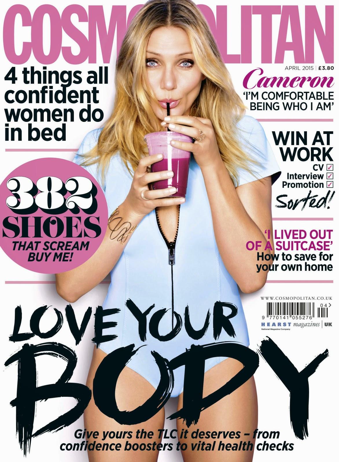 Actress @ Cameron Diaz - Cosmopolitan UK, April 2015