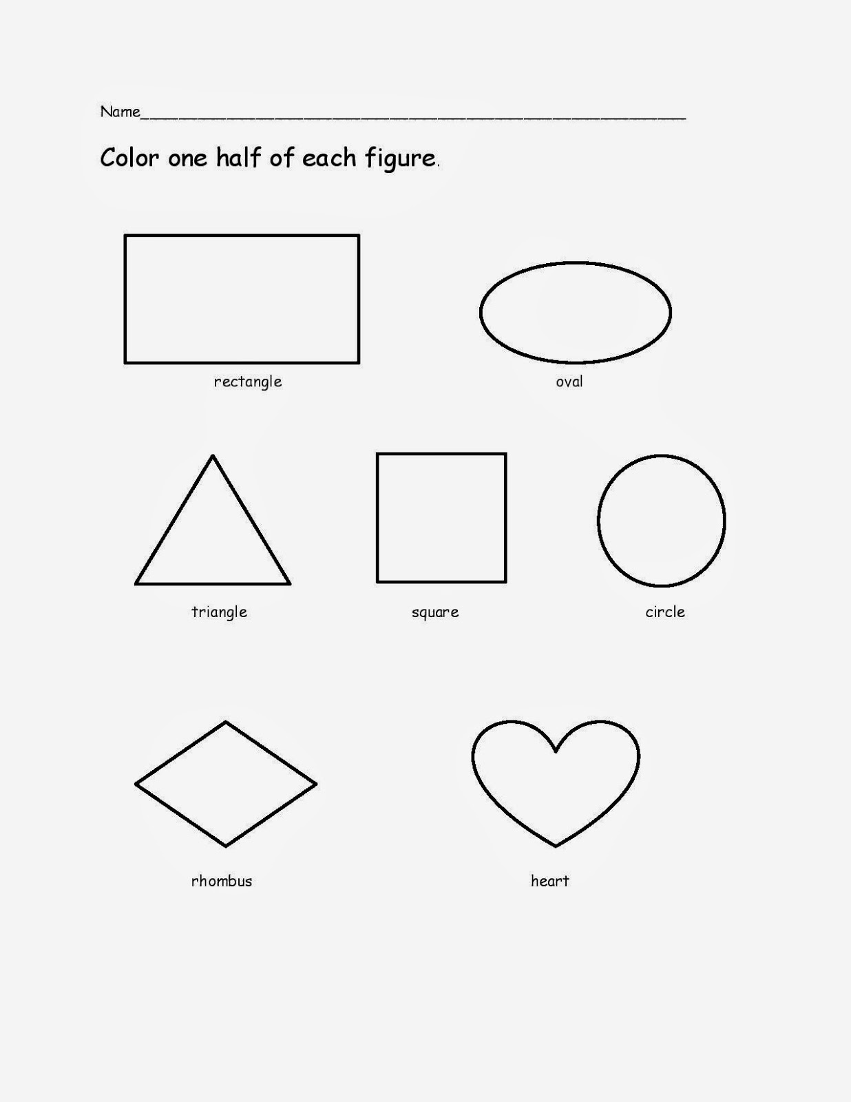 free coloring pages of identifying shapes