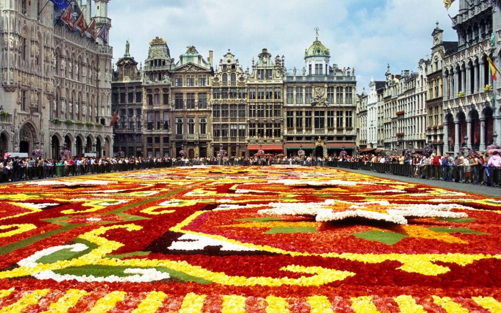 la alfombra de flores de Bruselas