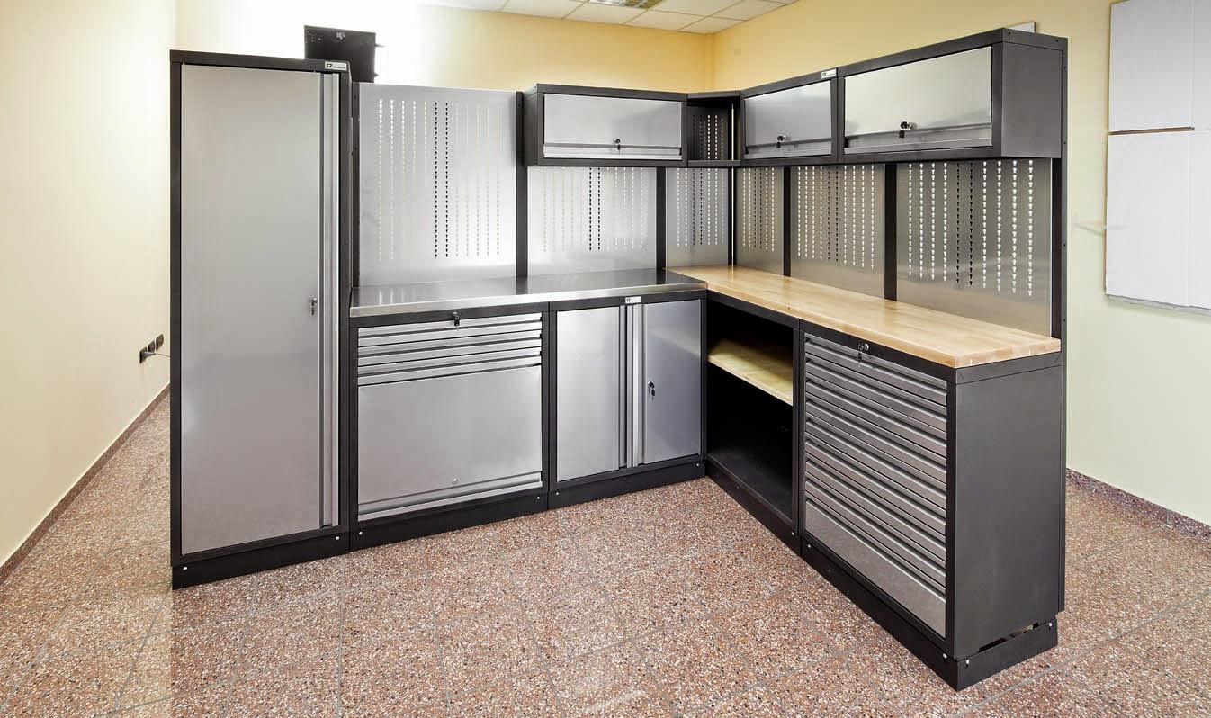 Denworker arredi completi per officine con carrelli for Arredamento per garage