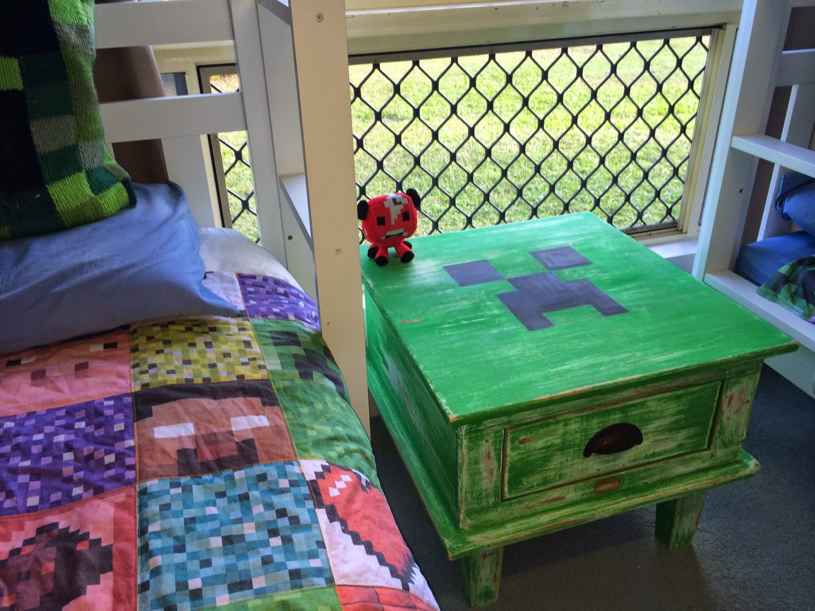 Find me out by the shed minecraft coffee table for Minecraft coffee table