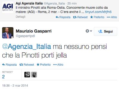 il tweet di Gasparri