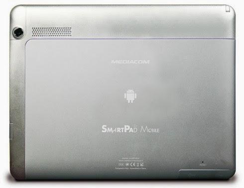 Classica fotocamera posteriore da 2 mega pixel e anteriore da 0,3 mega pixel per questo tablet ad alto livello di connettività di Mediacom
