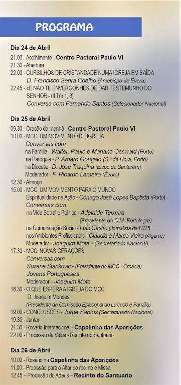PROGRAMA DO II CONGRESSO