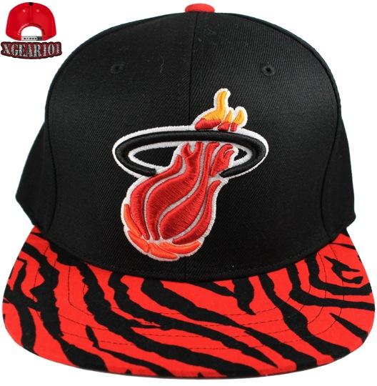 Miami heat custom brim strapback hats jordan sneaker for Custom t shirts and hats