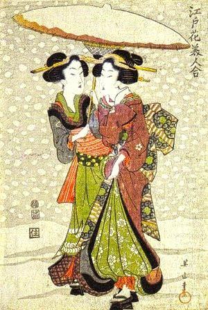 Famous Japanese Paintings Geishas
