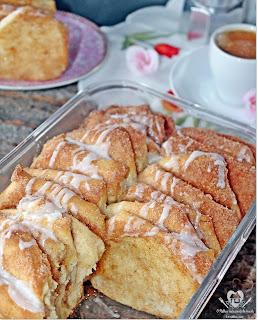 Receita prática e deliciosa de pão doce em folhas com canela