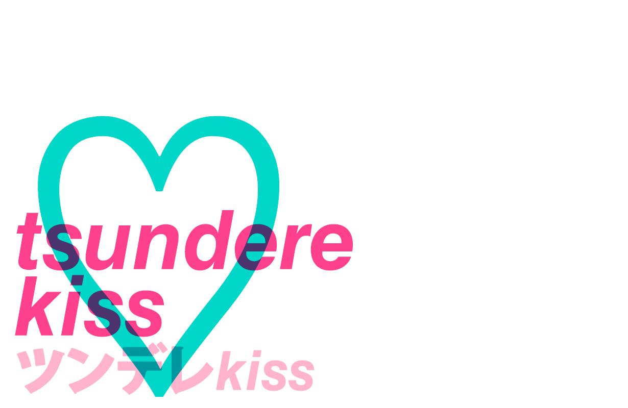 tsundere kiss