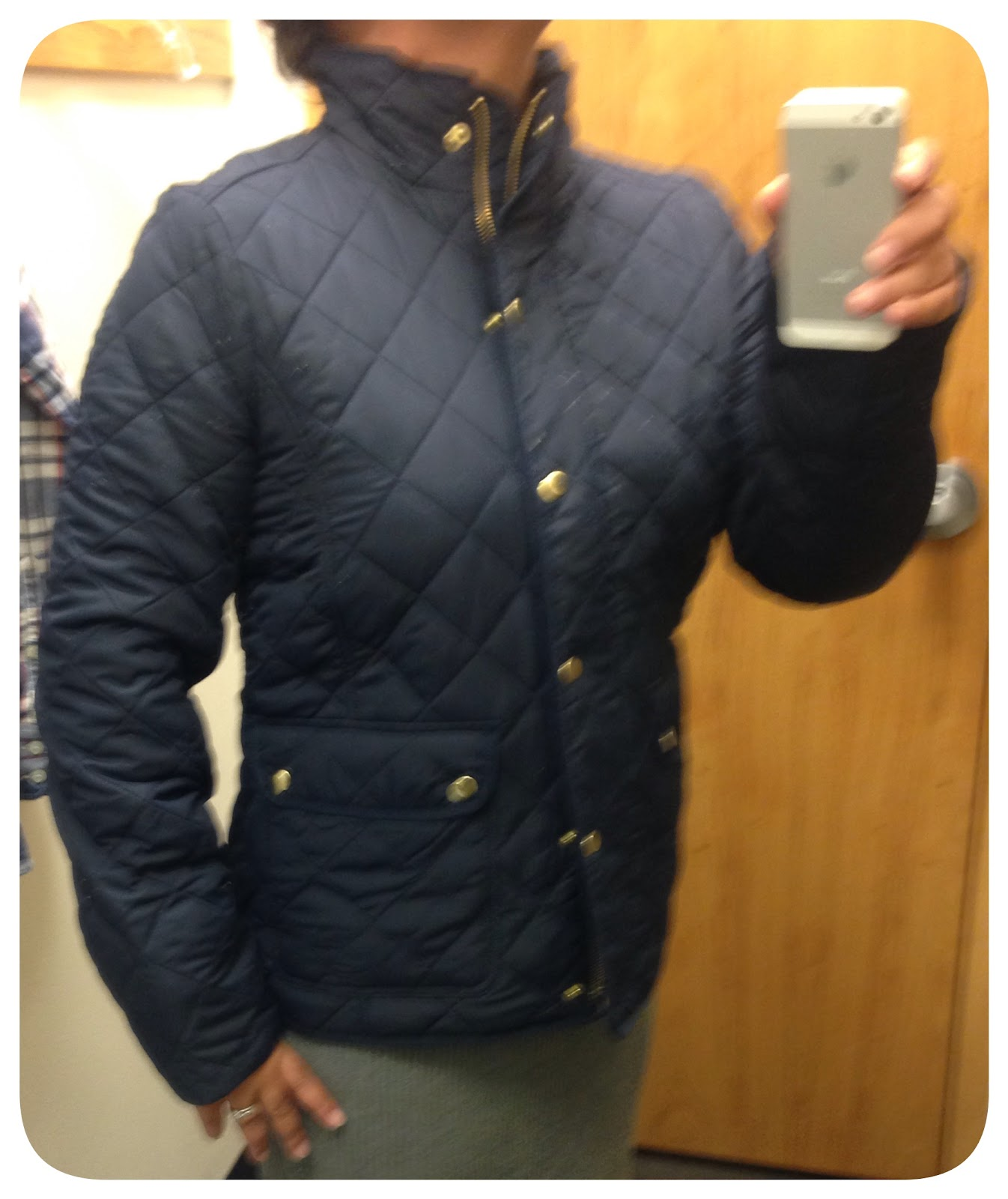 J crew factory black quilted jacket
