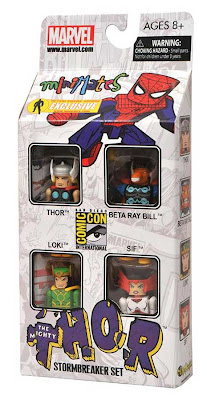 "San Diego Comic-Con 2011 Exclusive Thor ""Stormbreaker"" Marvel Minimates Box Set Packaging by Action Figure Xpress - Thor, Beta Ray Bill, Loki & Sif"