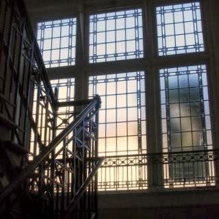 Vitrail de cage d'escalier