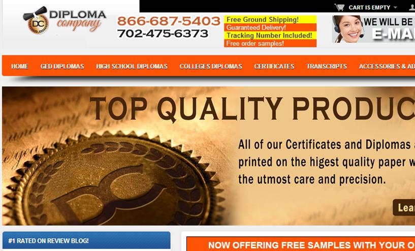 Fake diploma review diplomacompanycom review for Diplomacompany com