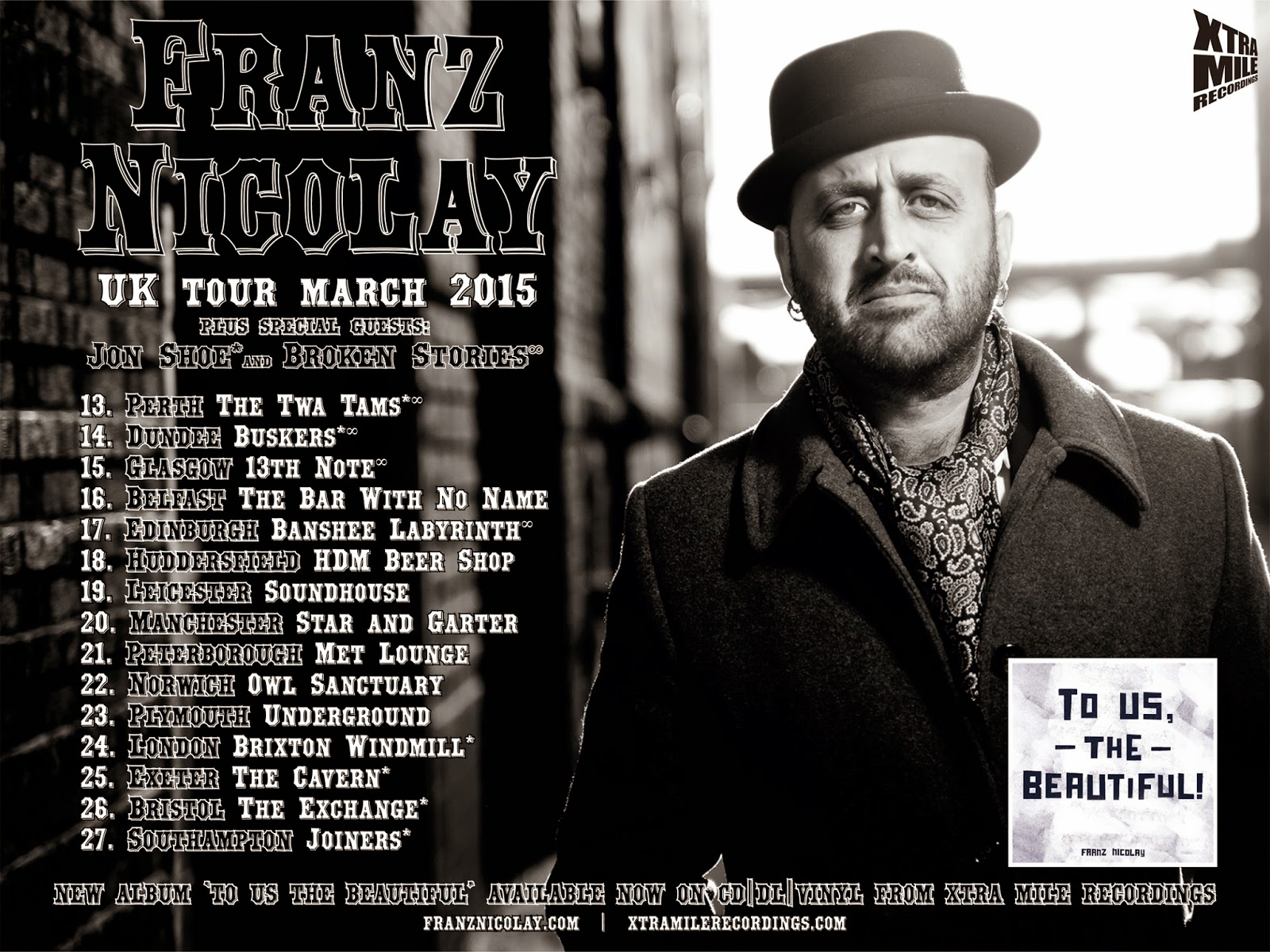 Franz Nicolay UK Tour March 2015