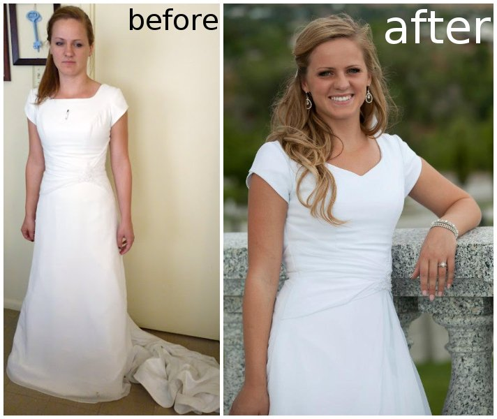 Wedding Dress Alteration After Adding A Godet Heather Handmade