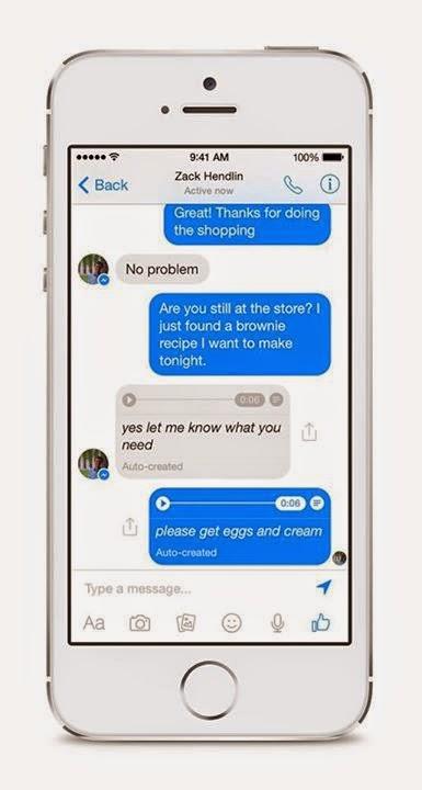 Facebook Messenger adds voice transcription