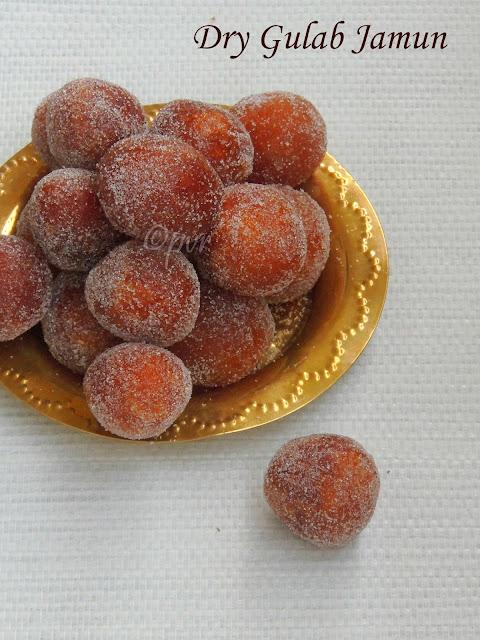 Dry gulab jamun, Mini Dry gulab jamun