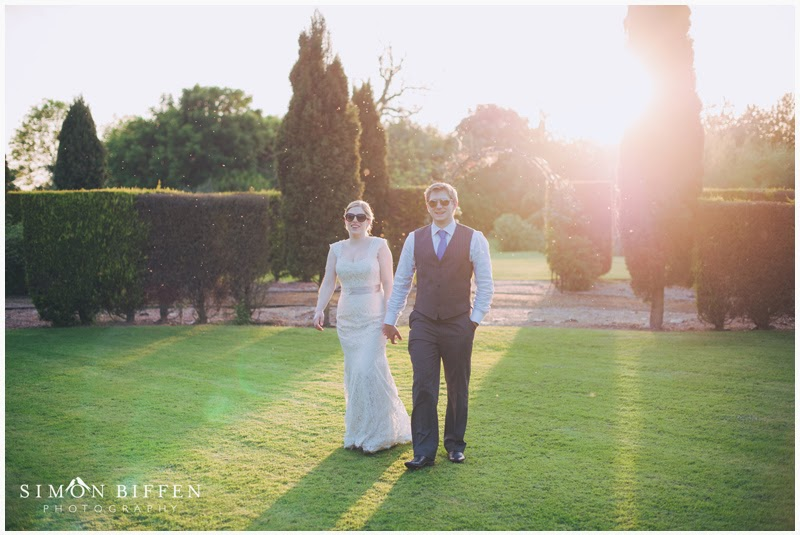 Bride and Groom at Newton House wedding