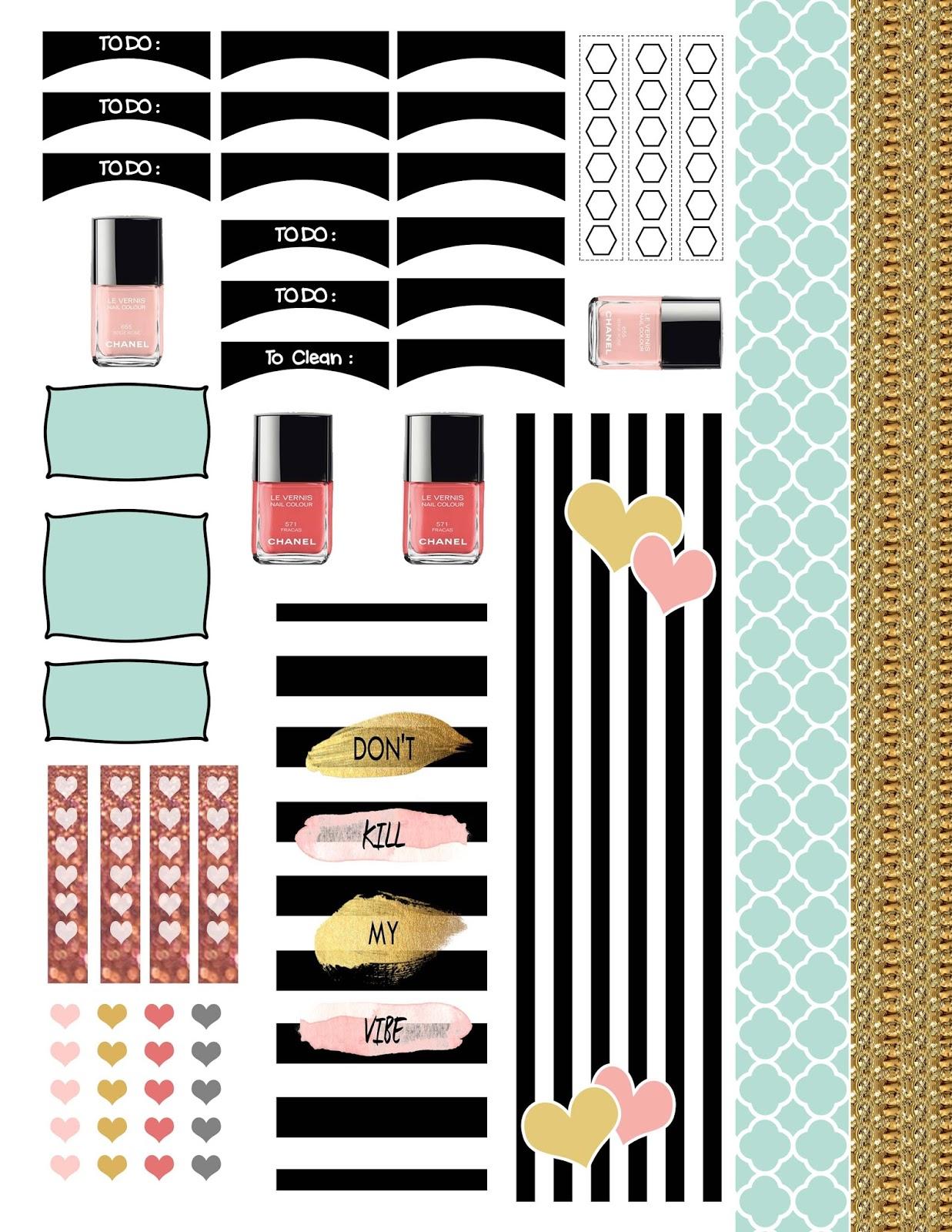 planner.PICKETT: Fashion Forward Sticker Printable