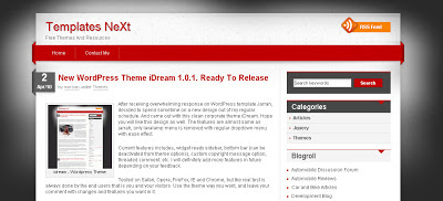 Template Idream For Blogger