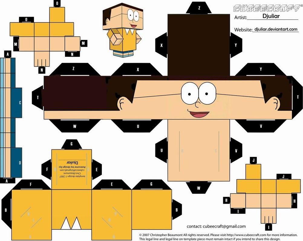 Đồ chơi giấy Nobita 1