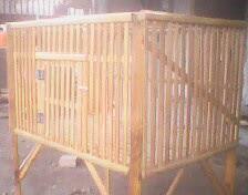 kandang ayam bambu